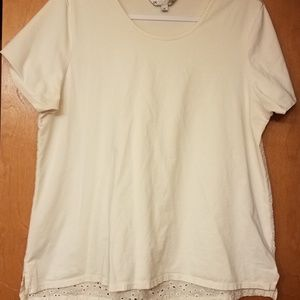 DE Collection xl Top with Eyelet back